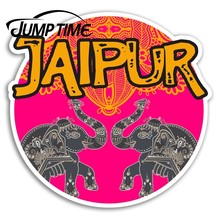 Jump Time Jaipur India Vinyl Stickers Cool Travel Sticker Laptop Luggage Car Funny Decal Trunk Window Car Covers(China)