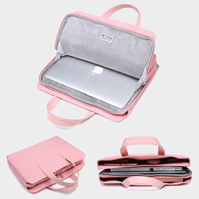 "Laptop Bag for Macbook air 13 case 13 14 15 15.6 inch laptop case sleeve for mac pro 16"" xiaomi huawei Hp Dell for men women Big"
