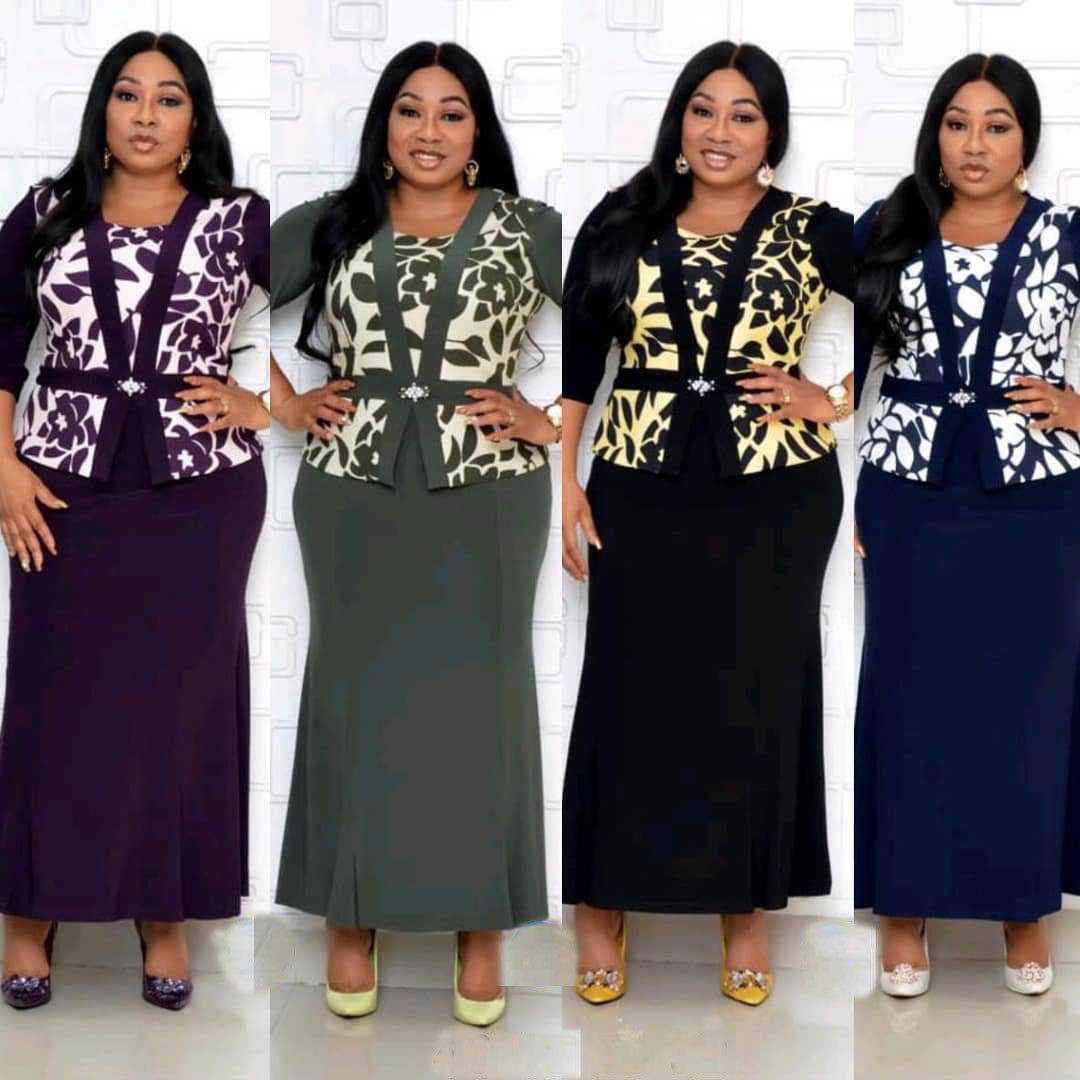 großhandel langes abend kleid afrikanische kleider für frauen dashiki  drucken gefälschte zweiteilige set maxikleid bazin robe africaine femme  2020 von