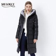 MIEGOFCE 2020 płaszcz kurtka zimowa damska ciepłe parki z kapturem Bio Fluff płaszcz z kapturem wzrost jakości kobieta nowa kolekcja zimowa Hot