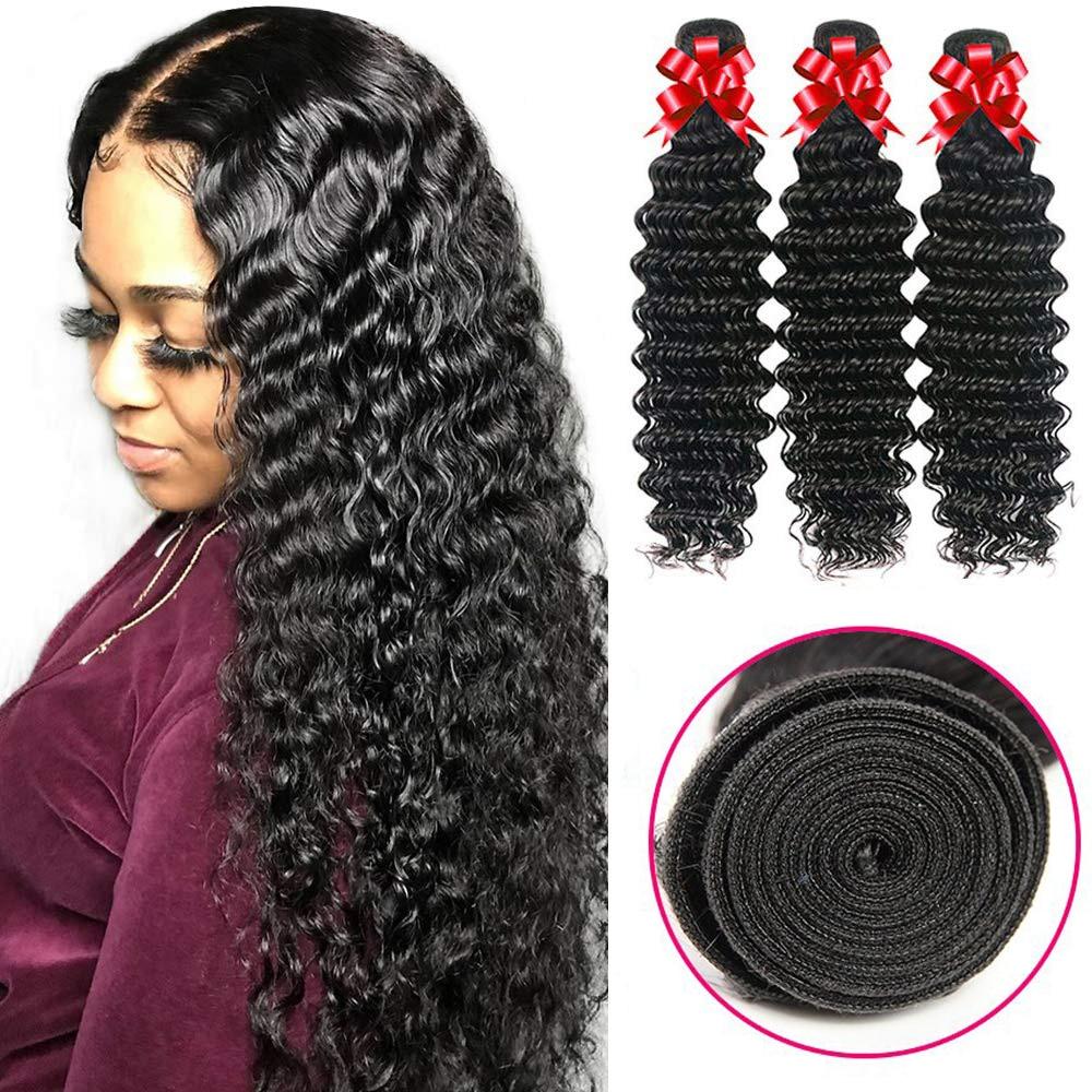 Human Hair Bundles Deep Wave Hair Bundles 28 30 Inch Remy Hair Bundles Brazilian Hair Weave 3 Bundles Human Hair Extensions