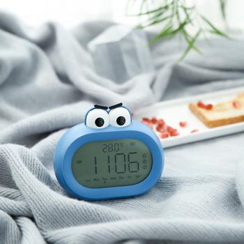 Cyfrowy budzik LED zegary śliczne duże usta budzik elektroniczny zegar temperatura zegar na biurko kreatywny prezent małe Radio tanie i dobre opinie CN (pochodzenie) GEOMETRIC DIGITAL Zegarki z alarmem Z tworzywa sztucznego Nowoczesne Funkcja drzemki Jedna twarz Big Mouth Alarm