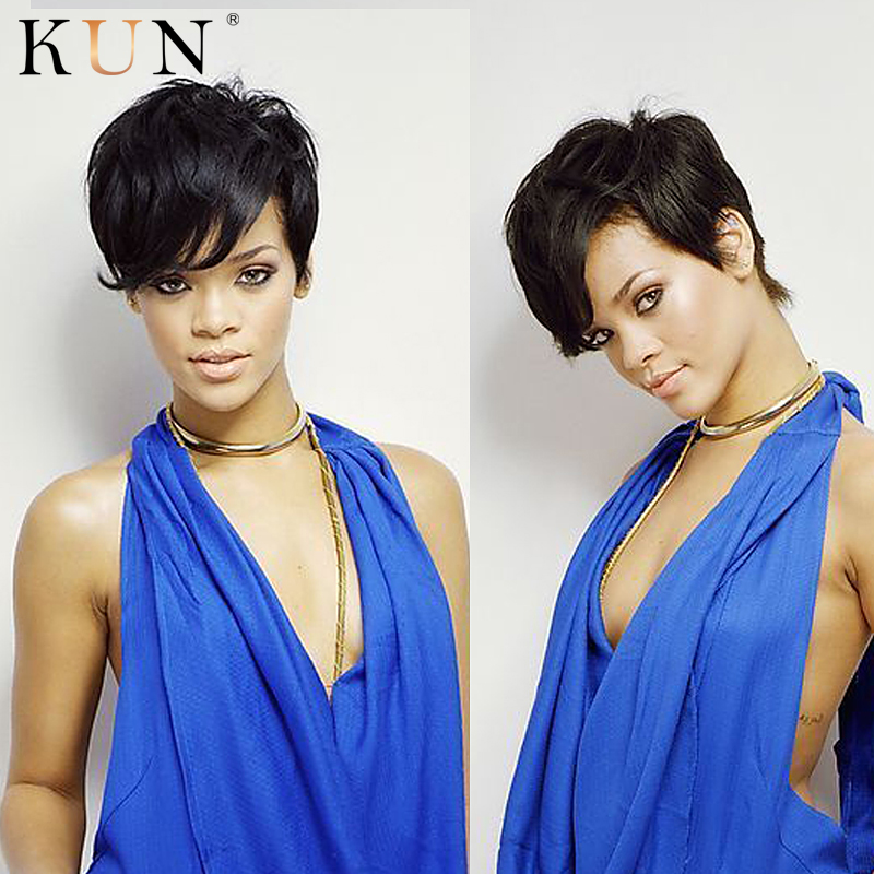 Pixie Cut Star Style Short Human Hair Wigs Straight 13x4 Lace Front Wig 150 Density Glueless Wig Pre Plucked Remy For Women
