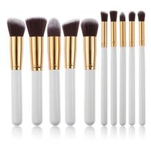 New Arrive 10 pcs Synthetic Kabuki Makeup Brush Set Cosmetics Foundation blendin