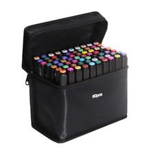 Touchfive 60/80 cores marcadores de álcool esboçar marcadores caneta para patinar escova oleosa lápis desenho conjunto manga arte suprimentos