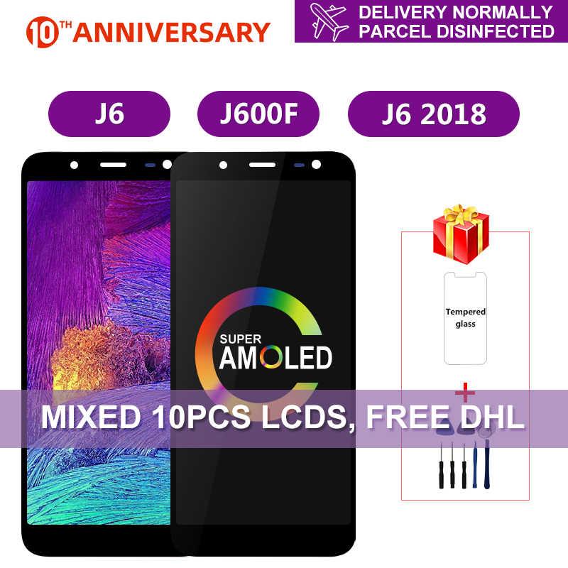 スーパー AMOLED サムスンギャラクシー J6 2018 J600 J600F J600Y の液晶ディスプレイタッチスクリーン SM-J600F J600G J600FN/ds 組立部品
