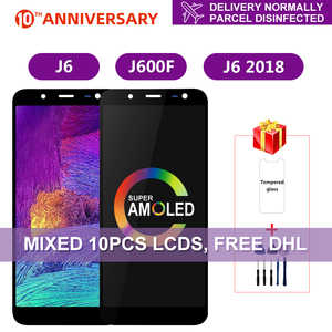 Super AMOLED For Samsung Galaxy J6 2018 J600 J600F J600Y LCD Display Touch Screen For SM-J600F J600G J600FN/ds Assembly Parts