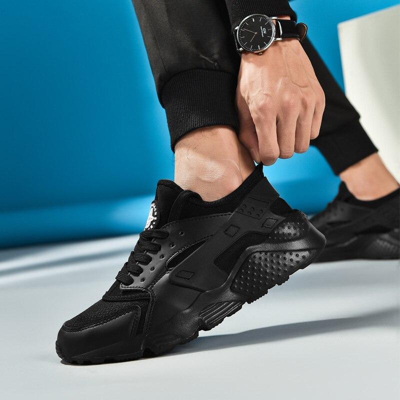 Uberu Men's Canvas Running Shoes Men's Black Mesh Sneakers Big Size 47 Outdoor Comfortable Breathable Non-slip Tennis Sneakers