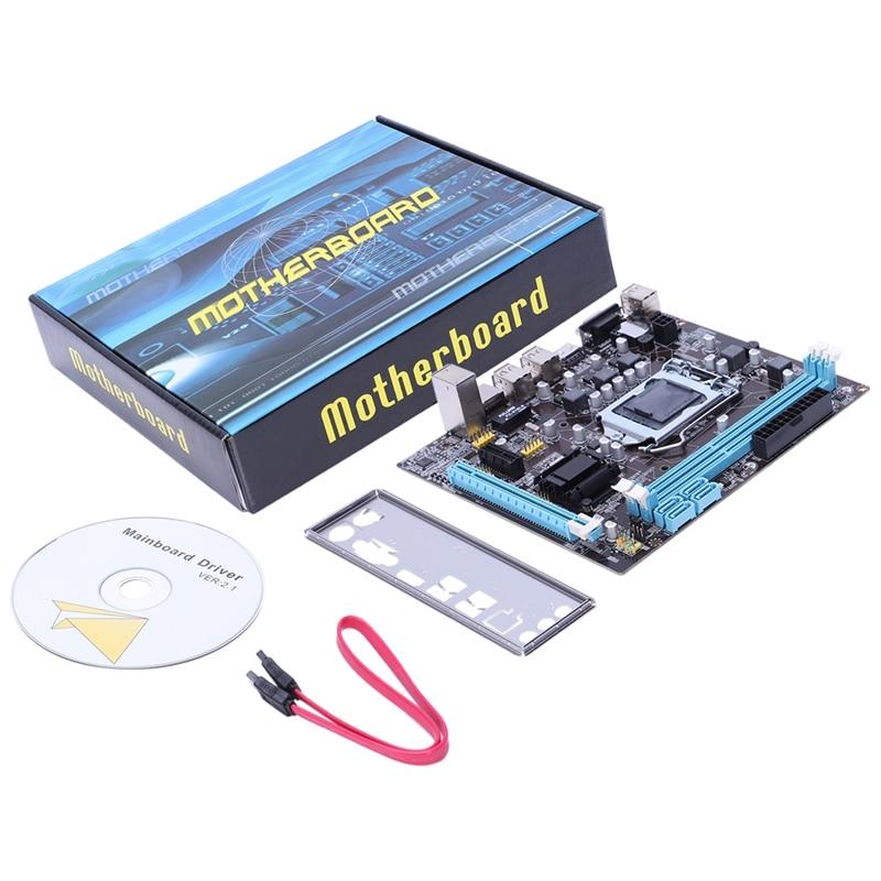 PPYY новая-профессиональная материнская плата H61 LGA 1155 DDR3 ram USB 2,0, плата с поддержкой Core I3 I5 I7, четырехъядерный процессор, двухканальный настоль...