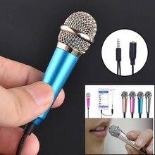 Мини микрофонный конденсаторный караоке микрофон проводной микрофон для телефона ПК компьютер микрофон конденсатор ручной синий 3,5 разъем 19 октября
