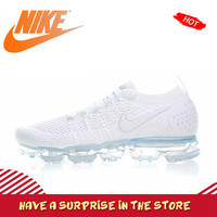 Original Authentic NIKE AIR VAPORMAX FLYKNIT 2 Mens Running Shoes Sneakers Breathable Outdoor Sport Cozy Durable Classic 942842