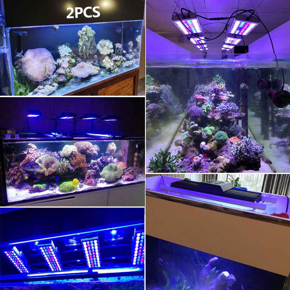 PopBloom Marine Aquarium Licht Riff Aquarium led-beleuchtung für aquarium salzwasser aquarium Riff korallen Volle Spektrum Turing40