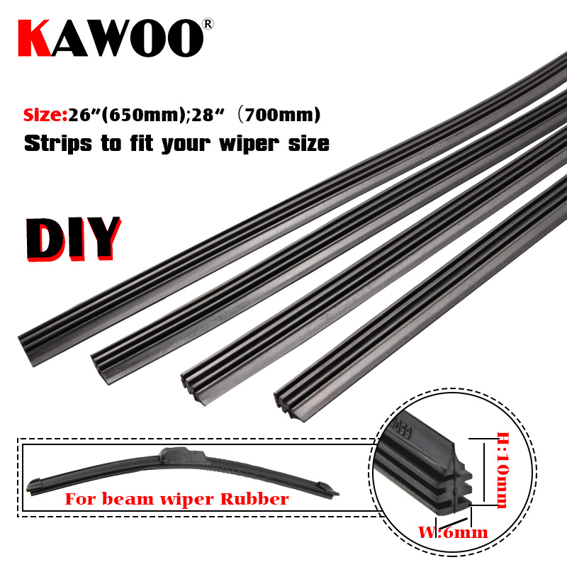 Metal Stents Wiper Strips Insert Rubber strip Blade Refill 6mm Soft 26 2pcs Styling Auto Car Vehicle