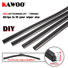 KAWOO Top quality Auto Vehicle Insert Rubber strip Wiper Blade blades (Refill)6mm Soft 26 28 10pcs/lot car accessories styling high quality 10pcs lot 6mm black toggle switch rubber cover waterproof caps home tools accessories new ve179 p20