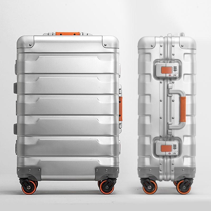 100% Full Aluminum Luggage Checked Boarding Suitcase 20