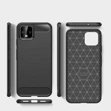 Rugged Armor Soft Phone Case for Google Pixel 1 2 3 3a 4 XL Resilient Silicone Carbon Fiber Texture Shockproof Cover Coque