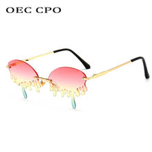 УНИКАЛЬНЫЕ Солнцезащитные очки oec cpo без оправы женские солнцезащитные