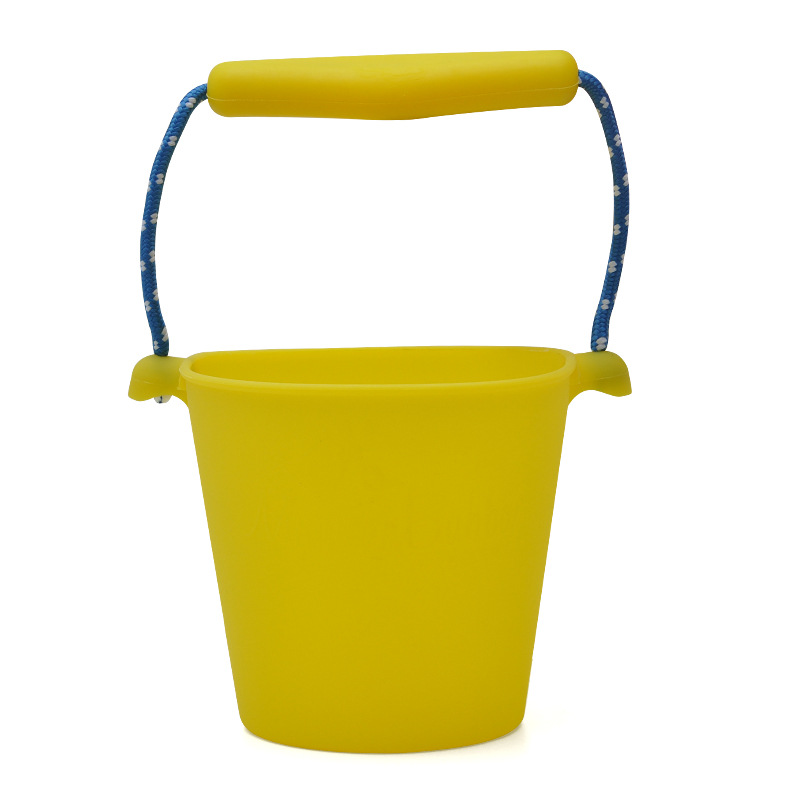 7 Colors Beach Bucket Silicone Folding Hand-held Barrel Toy Baby Kids Shower Bath Toy Sand Dabbling Pour Water Toy