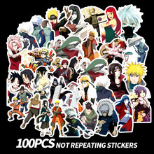 100Pcs Sticker Japan Anime Naruto Stickers Cartoon for Snowboard Laptop Luggage Fridge Car- Styling Vinyl Decal Sticker