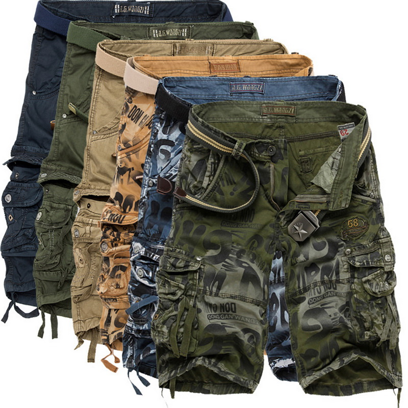 2020 Summer Men Camouflage Shorts Fashion Knee Length Casual Short Pants Tactical Camo Cargo Shorts Men Shorts Masculino