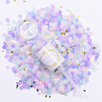 1Pcs Confetti Push Poppers Wedding Bridal Shower Mixed Push Pop Paper Confetti Baby Shower Unicorn Birthday Party Decorations