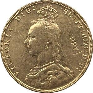 Позолоченные английские монеты 24 К, копия 1891