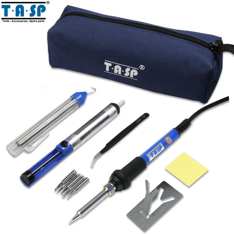 TASP 60W Electric Soldering Iron Kit Welding Gun Set Temperature Adjustable Repair Tool -MSI60