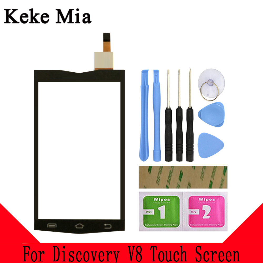 Keke Mia 4 0 quot Mobile TouchScreen For Discovery V8 Touch Screen Digitizer Touch Panle Lens Glass Black Color With Tape in Mobile Phone Touch Panel from Cellphones amp Telecommunications
