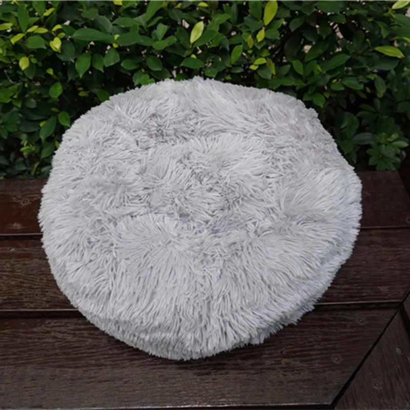 Yumuşak köpek yatağı yuvarlak yıkanabilir peluş kedi yatak ev köpekler yatak Pet köpek halısı uyku Dropshipping merkezi 2021 en çok satan ürünler