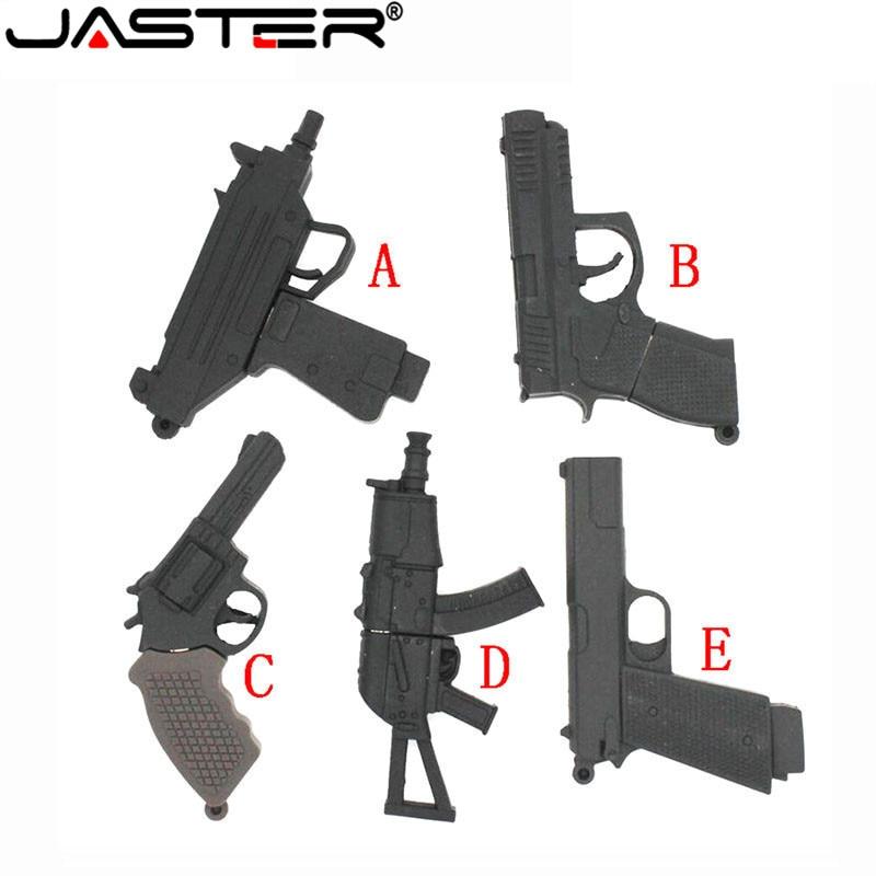 JASTER Cool Ak47gun Model Usb Flash Drive Usb 2.0 Pistol Pendrive 8gb 16gb 32gb 64gb Memory Stick Pendrives Thumb Drive Gifts