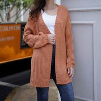 2019 Autumn Women Twist Cardigan Knitted Oversized Open Front Jumper Coat Sweater Ladies Solid Brown Loose Свитер Q9QE