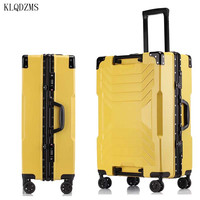 KLQDZMS 20''24''26''29 Zoll Innovative Rädern Koffer Trolley ABS Modische Spinner Roll Gepäck PC Business Reisetasche
