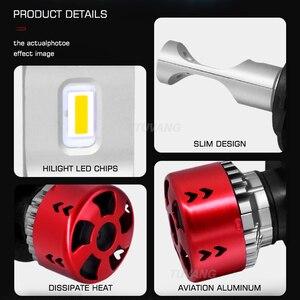 Image 4 - 2x3000 k זהב רכב Led פנס אור CSP שבב H1 H4 היי/נמוך 9003 HB2 H7 H8 h11 9005 HB3 9006 HB4 אוטומטי ערפל LED הנורה 9600LM 72W