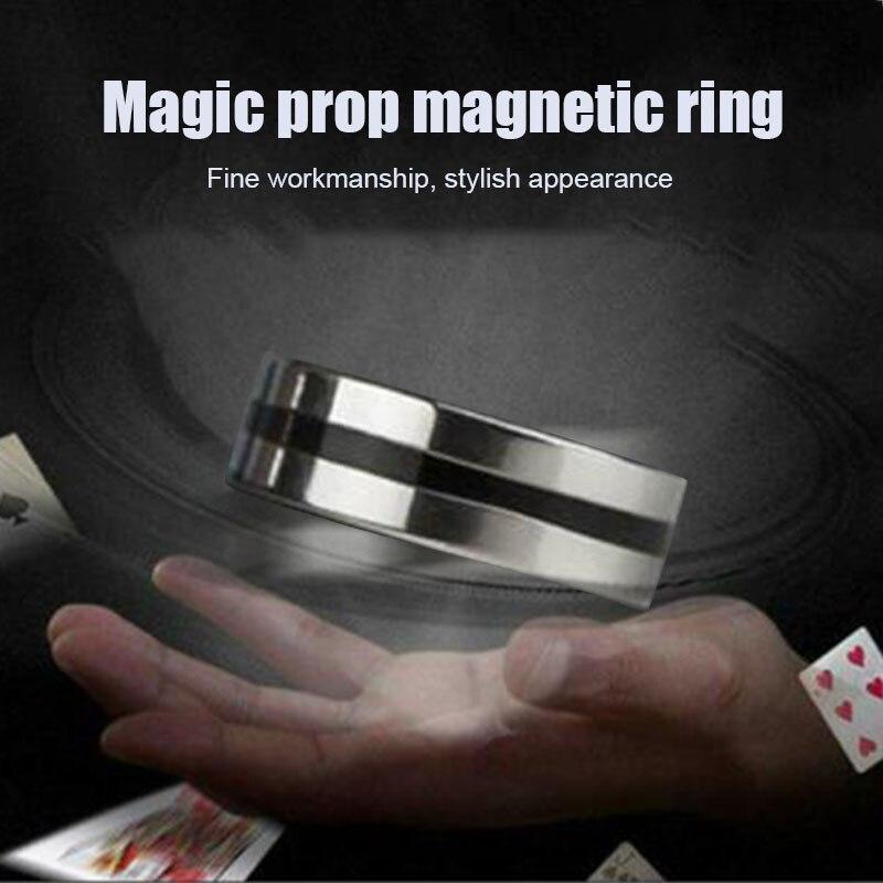 Black Circle Magnetic Ring Suspension Ring Magic Props Floating Ring Magic Toys  BM88