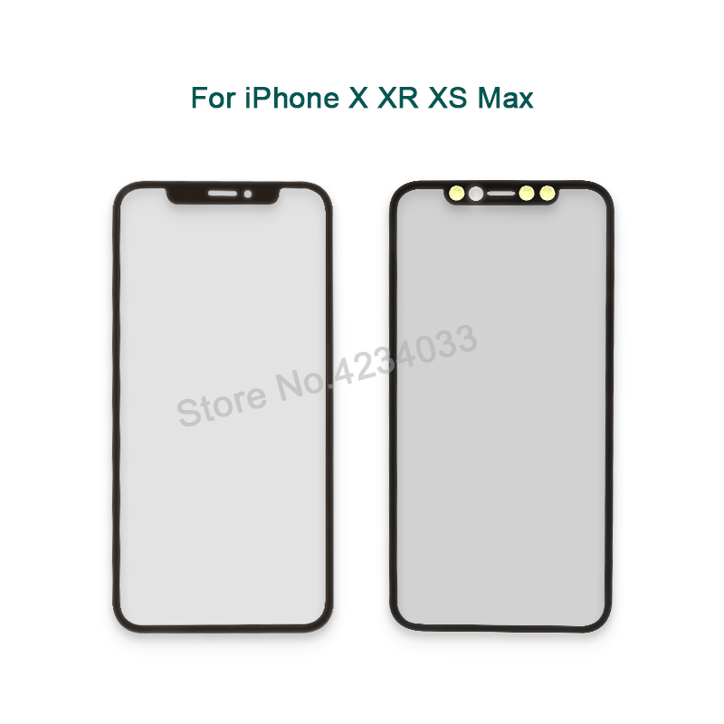 A Quality Front Screen Outer <font><b>Glass</b></font> Lens With OCA Replacement for <font><b>iPhone</b></font> <font><b>X</b></font> XR XS Max <font><b>Repair</b></font> Parts image