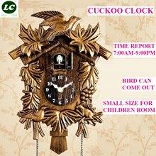 Часы Cuckoo, настенные часы для гостиной, часы с будильником и птицей, современные короткие детские украшения в виде единорога, домашний будильник