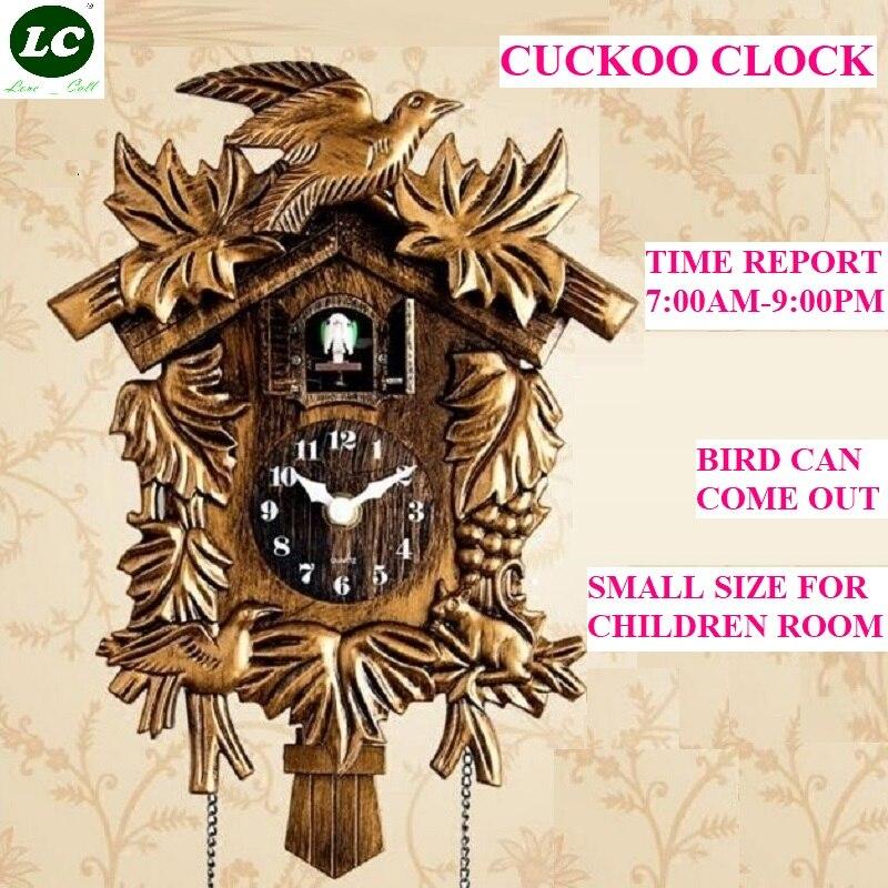 10 pouces Coucou Horloge murale de salon Oiseau coucou moderne Slip Décorations de chambre d'enfants Coucou