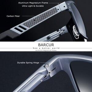 Image 2 - BARCUR gafas De Sol cuadradas De aluminio y magnesio para hombre y mujer, lentes De Sol polarizadas Estilo Vintage, deportivas
