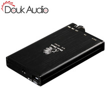 Douk amplificador de áudio portátil, hi fi, classe a, amplificador com mini fone de ouvido estéreo e áudio para audiophiles
