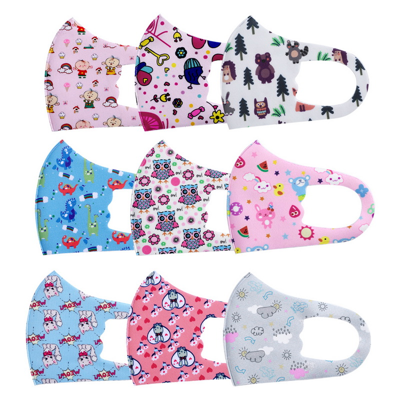 10pcs Pattern Child Face Masks For Girl Boy Kids Washable Reusable Anti PM2.5 Cotton Mouth Masks Anti Dust Earloop Mask 1