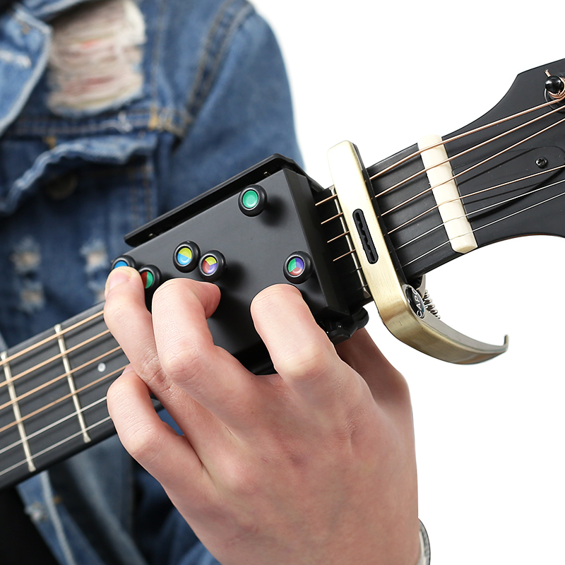 NEW Guitar Learning System Teaching Practrice Aid With 21 Chords Lesson Guitar Chord Trainer Practice Tools Accessories Part#4