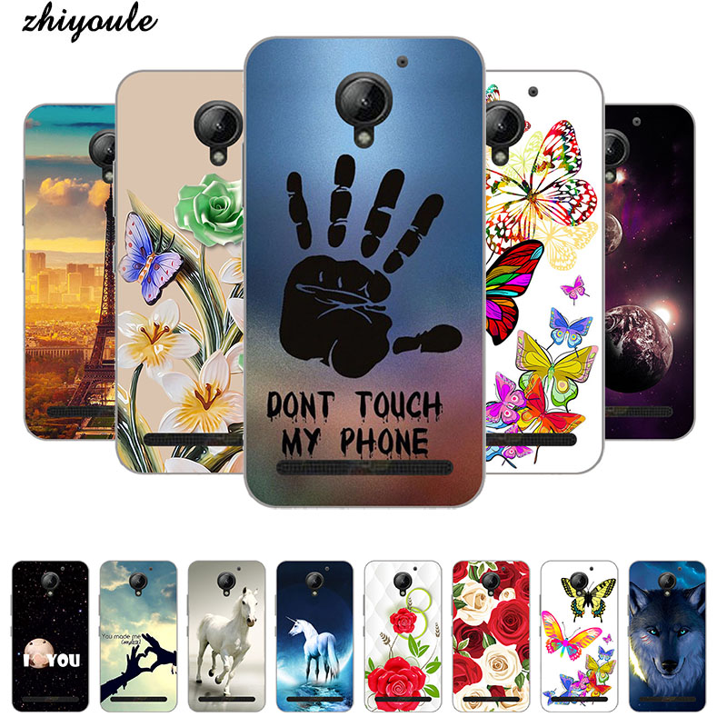 for Lenovo Vibe C2 K10A40 Case Printing TPU Case Cover for Lenovo C2 Phone Case Silicon Phone Cat Landscape Protective Fundas image
