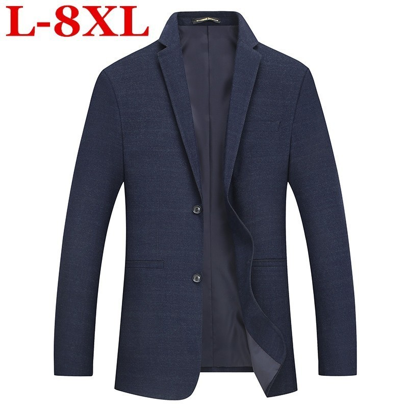 Plus Size 8XL 7XL Autumn Winter Plus Size Business Coat Add Fertilizer Increased Male Casual Suit Jacket Loose Fat Male Jacket