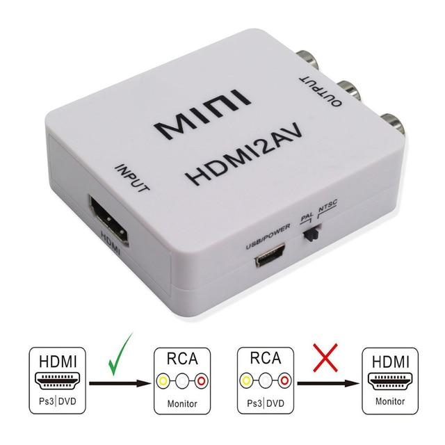 1080p mini hdmi ao conversor composto do adaptador do av de rca cabo video áudio conversor do adaptador de cvbs av para a tevê hd com cabo de usb