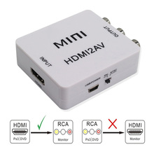 HDMI Al Convertitore AV Scaler Adattatore Composito Converter Box per RCA AV/CVSB L/R Video HD 1080P Mini HDMI2AV Supporto NTSC PAL