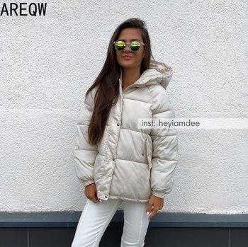 2021 New Short Winter Jacket Women Oversize Parka Coat Warm Thick Cotton Coat Loose Hooded Padded Women Winter Jacket 1