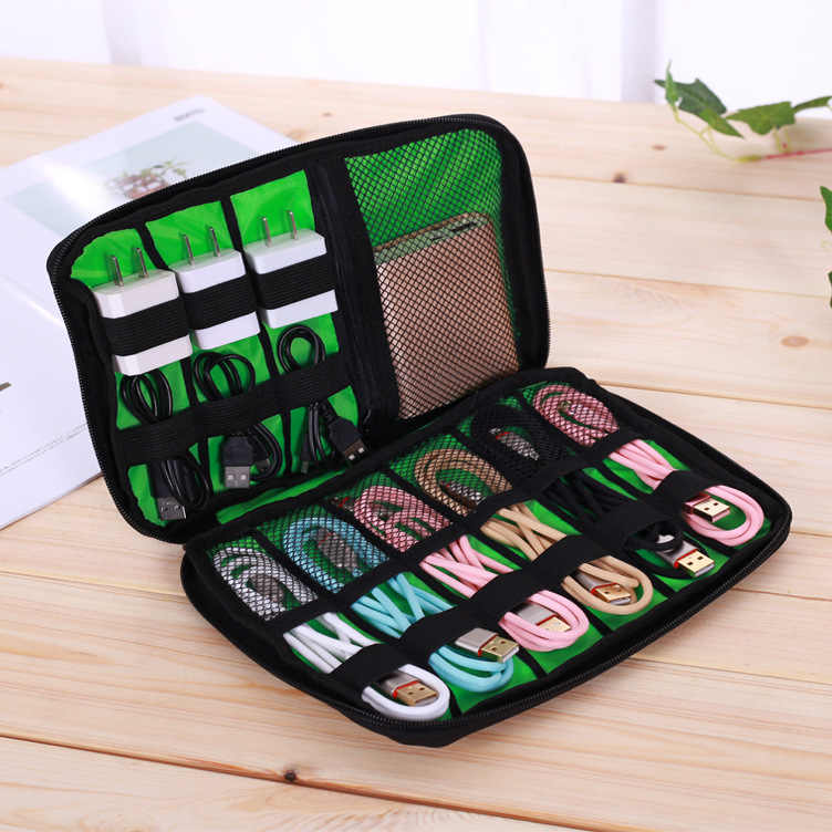 New Portable Cable Storage Organizer Bags Waterproof Shockproof Earphone Digital USB Charging Cable Sorting Travel Insert Bags