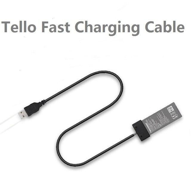 DJI TELLO Pil şarj kablosu Için DJI TELLO USB kablosu Portu Pil Hızlı şarj aleti kablosu Drone Aksesuarları