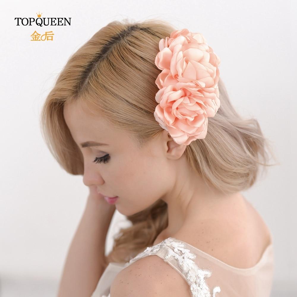TOPQUEEN HP51 Wedding Flower Headband Bridal Flowers For Headbands Bridal Hair Flower Accessories Flower Combs For Hair