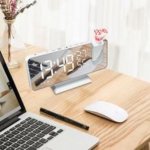 Alarm-Clock Watch-Table Desktop-Clocks Projection-Time Snooze Fm-Radio Led Digital Smart